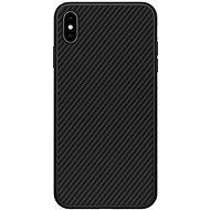 Nillkin Synthetic Fiber Ochranný Zadní Kryt Carbon pro Apple iPhone XS Max black - Kryt na mobil