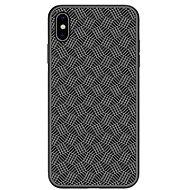 Nillkin Synthetic Fiber Plaid pro Apple iPhone X/XS black - Kryt na mobil