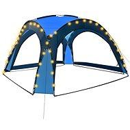 Party stan s LED světly 4 boční stěny 3,6 x 3,6 x 2,3 m modrý - Zahradní altán