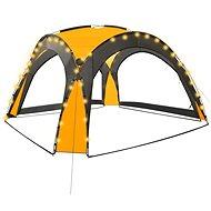 Party stan s LED světly 4 boční stěny 3,6 x 3,6 x 2,3 m žlutý - Zahradní altán