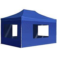 Profesionální skládací party stan + stěny hliník 4,5x3 m modrý - Zahradní altán