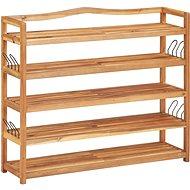 Botník s 5 policemi 95 x 26 x 80 cm masivní akáciové dřevo - Botník