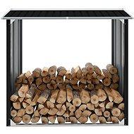 Kůlna na dříví pozinkovaná ocel 172 x 91 x 154 cm antracitová - Zahradní domek