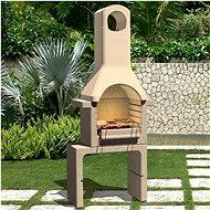 Zahradní betonový gril na dřevěné uhlí s komínem