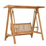 Houpací lavice 170 cm masivní teakové dřevo - Zahradní houpačka