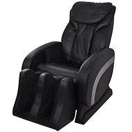 Rocking Massage Chair Black Faux Leather - Armchair