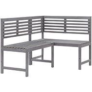 Zahradní rohová lavice šedá 140 cm masivní akáciové dřevo