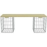 Gabion bench 120 cm galvanized steel and pine