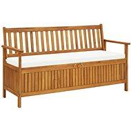 Úložná lavice s poduškou 148 cm masivní akáciové dřevo - Zahradní lavice