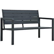 Garden Bench 120cm HDPE Grey Wooden Look - Garden benches