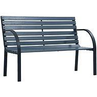 Zahradní lavice 120 cm šedá dřevo