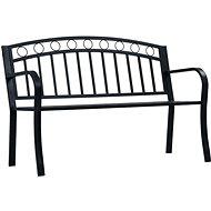 Garden Bench 125cm Black Steel