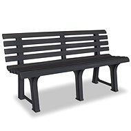 Garden bench 145.5 cm plastic anthracite - Garden benches