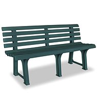 Garden bench 145.5 cm plastic green - Garden benches