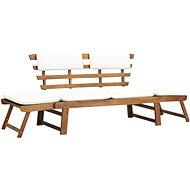 Zahradní lavice s polštářky 2-v-1 190 cm masivní akácie - Zahradní lavice