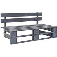 Zahradní lavice z palet dřevo šedá - Zahradní lavice