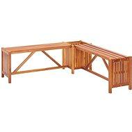 Zahradní rohová lavice s truhlíkem 117x117x40 cm masivní akácie - Zahradní lavice