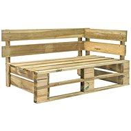 Zahradní rohová lavice z palet dřevo