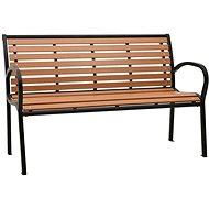 Zahradní lavice 125 cm ocel a WPC černá a hnědá 312035 - Lavice