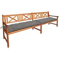 Zahradní lavice s poduškami 240 cm masivní akáciové dřevo 3063838 - Lavice