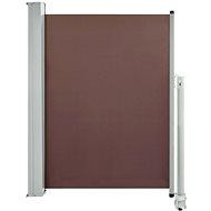 Zatahovací boční markýza / zástěna na terasu 100 x 300 cm hnědá - Markýza