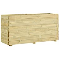Raised bed with bottom 150×50×75 cm impregnated pine 49440