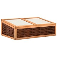 Greenhouse 120×80×45 cm solid pine and willow 315793 - Hotbed