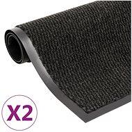 Protiprachové obdélníkové rohožky 2 ks všívané 60×90 cm černé 3051606