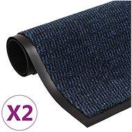 Protiprachové obdélníkové rohožky 2ks všívané 90×150 cm modré 3051616