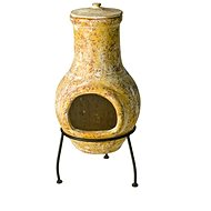 RedFire Fireplace Tampico yellow 31 × 31 × 68 cm baked clay