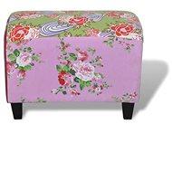 Patchwork footstool, floral motif