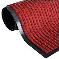 Červená PVC rohožka 90 × 150 cm