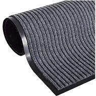 Šedá PVC rohožka 90 × 60 cm