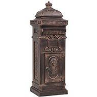 Sloupová poštovní schránka ve vintage stylu rezuvzdorná bronz