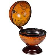 Stolní globus bar stojan na víno eukalyptové dřevo - Stojan na víno