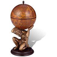 Glóbusový bar stojan na víno design Atlas 42 × 42 × 85 cm - Stojan na víno