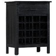 Stojan na víno černý 56 × 35 × 75 cm masivní mangovník - Stojan na víno