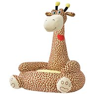 Plyšové dětské křeslo žirafa hnědá - Dětské křeslo