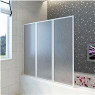 Sprchová a vanová zástěna 117 x 120 cm 3 panely skládací - Zástěna