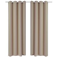 2 pieces of cream blackout curtains with metal rings 135 x 245 cm