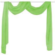 Translucent voile curtain 140 x 600 cm, green