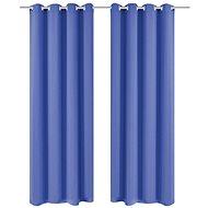 Blackout curtains with metal eyelets, 2 pcs, 135x175 cm, blue