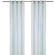 Curtains with metal rings 2 pcs cotton 140 x 245 cm blue stripes