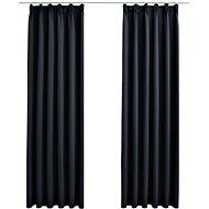 Blackout curtains with hooks 2 pcs anthracite 140 x 245 cm