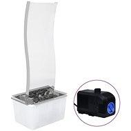 Zahradní fontána s čerpadlem nerezová ocel 90 cm zaoblená - Fontána