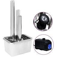 Zahradní fontána stříbrná 48 x 34 x 88 cm nerezová ocel - Fontána