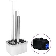 Zahradní fontána stříbrná 48 x 34 x 123 cm nerezová ocel - Fontána