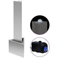 Zahradní fontána stříbrná 37,7 x 32,6 x 110 cm nerezová ocel - Fontána