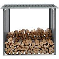 Zahradní kůlna na dříví z pozinkované oceli 172x91x154 cm šedá - Dřevník