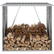 Zahradní kůlna na dříví z pozinkové oceli 163x83x154 cm šedá - Dřevník